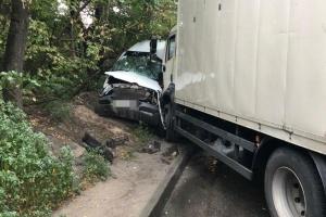 В Днипре столкнулись грузовик и маршрутка, девять пострадавших
