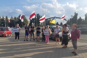 У Запоріжжі провели акцію на підтримку Білорусі