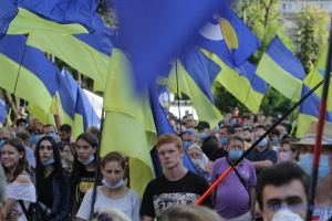 """У Дніпрі провели акцію проти незаконних """"референдумів"""""""