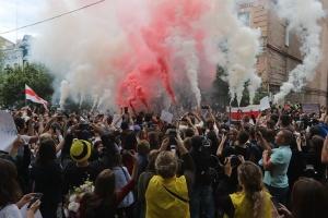 В Киеве провели акцию в поддержку задержанных в Беларуси участников мирных собраний