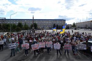 В Северодонецке - снова протесты из-за отмены выборов в прифронтовой полосе