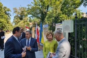 Стефанишина приняла участие в открытии в Варшаве выставки, посвященной союзу Петлюры с Пилсудским
