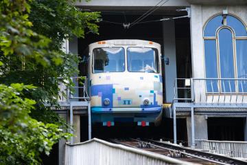 キーウ市ケーブルカー、改修により8月21日まで運休