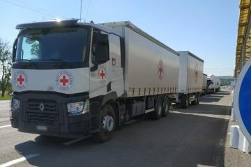 La Croix-Rouge a envoyé 50 tonnes d'aide humanitaire dans le Donbass