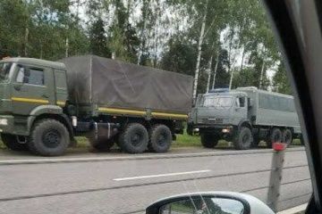 Russland: Kolonne von Militärfahrzeugen rollt Richtung Belarus