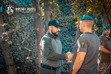Militares ucranianos reciben premios por el Día de la Independencia