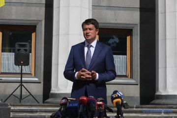 Parlamentschef Rasumkow ruft zu Verhandlungen zwischen Armenien und Aserbaidschan auf