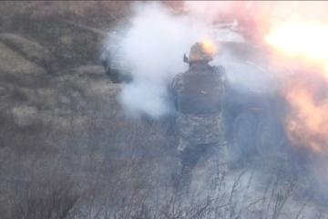Verletzung der Waffenruhe in der Ostukraine: Besatzer feuern mit Granatwerfern