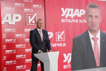 UDAR to participate in local elections independently - Klitschko