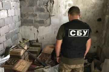 W obwodzie donieckim SBU znalazła amunicję i broń na opuszczonej farmie