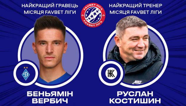 Вербич і Костишин стали кращими в УПЛ у липні