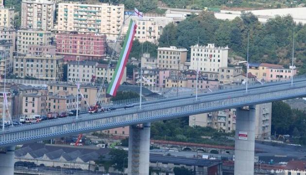 В Генуе открыли новый мост на месте обвала, где погибли 43 человека