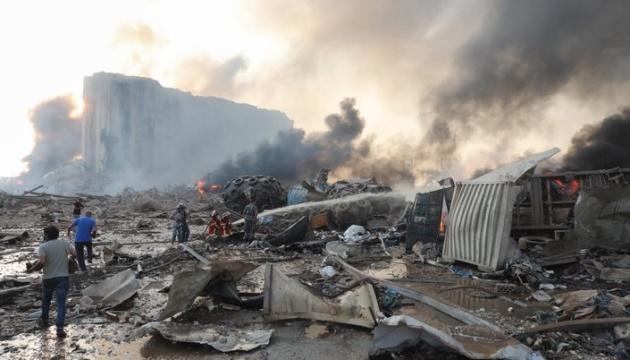 Два українських кораблі могли постраждати в результаті вибуху в порту Бейрута
