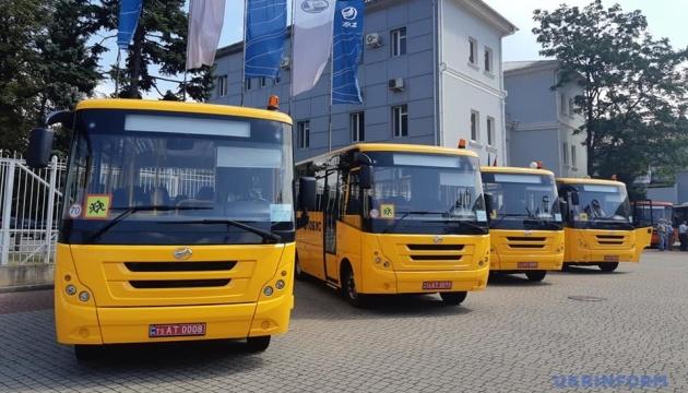 Громади Запоріжжя отримали шкільні автобуси, вироблені на ЗАЗ