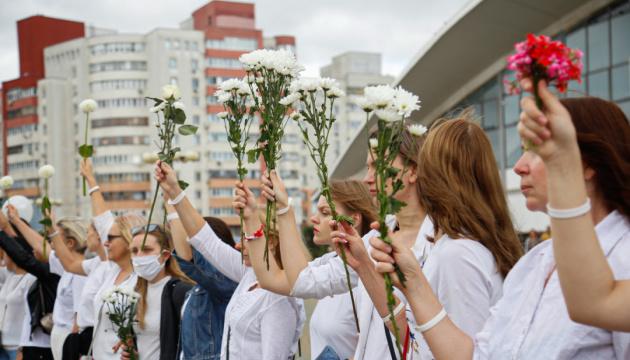 У Мінську сотні жінок вийшли на пікет проти насильства на вулицях