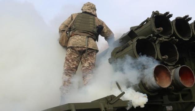 """Військові на тренуванні показали """"Смерчі""""і """"Точку-У"""" в дії"""