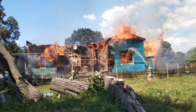 На Житомирщині згоріла дерев'яна церква XVIII століття