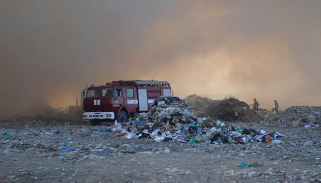 В Николаеве потушили поджог на полигоне твердых отходов - ДСНС