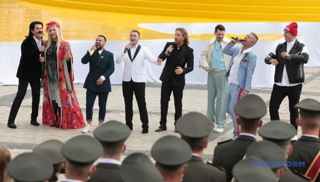 Урочистості на Софійській площі завершилися попурі українських пісень