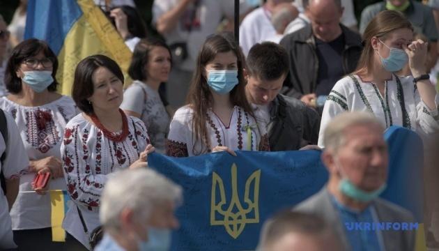 Поліція нарахувала 20 тисяч осіб на заходах у центрі Києва