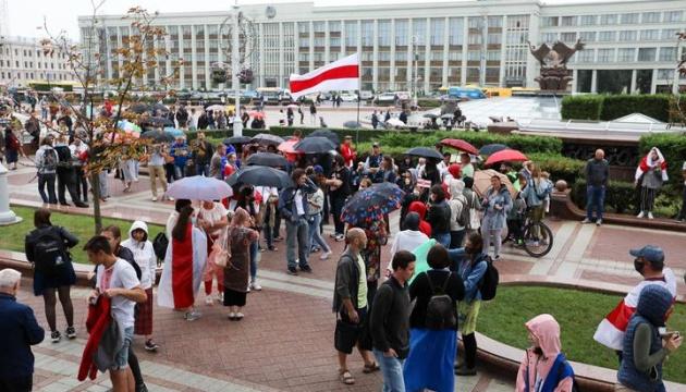 У центрі Мінська збирається мітинг на честь неофіційного Дня незалежності Білорусі
