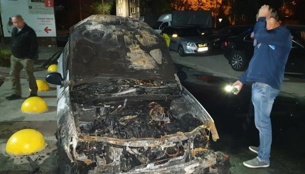 """Підпал авто програми """"Схеми"""": затримали двох підозрюваних, ще двоє - у розшуку"""