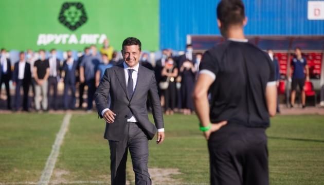 Зеленский открыл первый матч с участием возрожденного