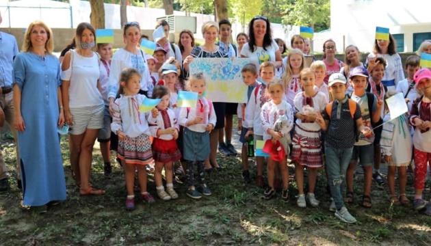 Маленькі українці Угорщини привітали посольство з Днем Незалежності