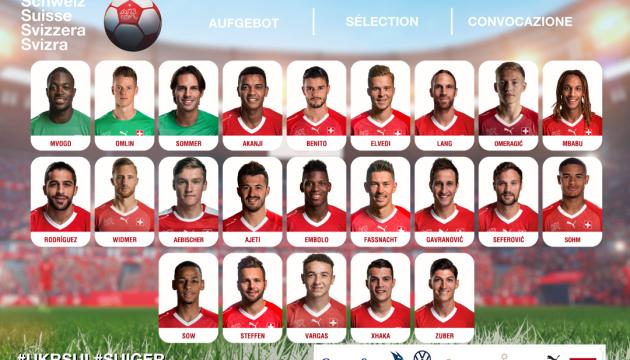 Швейцарія оголосила склад на матч з Україною у Лізі націй УЄФА
