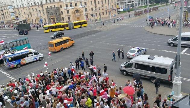 У Мінську через протести закривали чотири станції метро