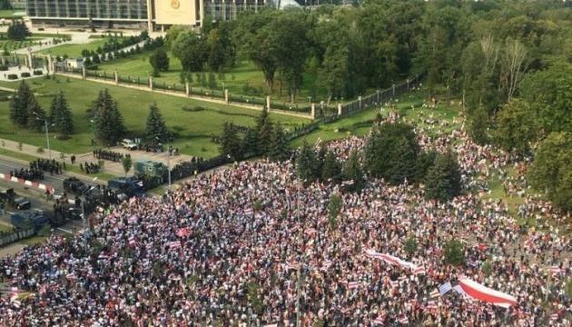 МВС Білорусі заявило про 125 затриманих у Мінську