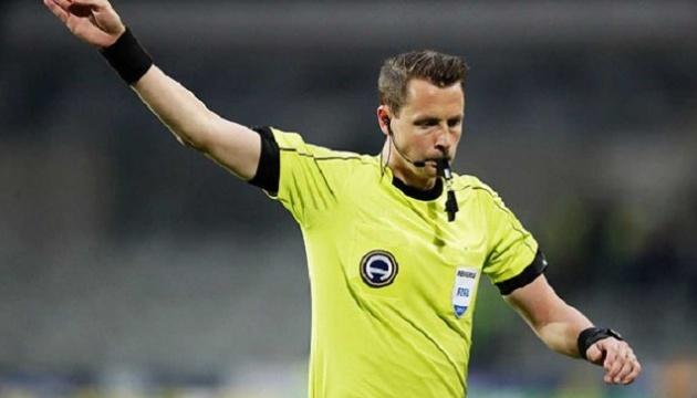 Стал известен арбитр матча Украины и Швейцарии в Лиге наций УЕФА