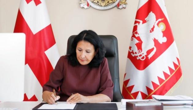 Президентка Грузії закликає негайно повернути до Києва відкликаного посла