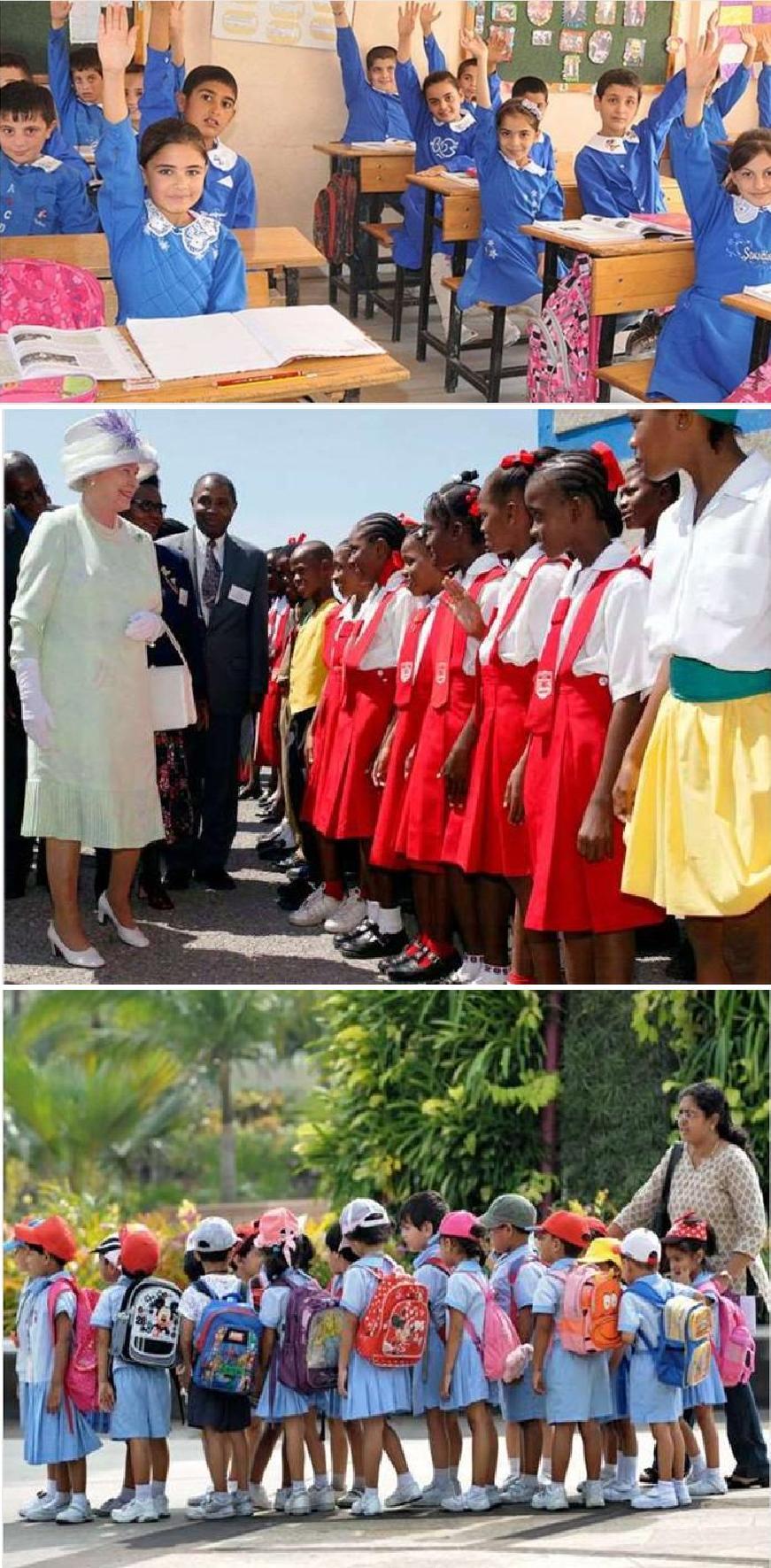 У Туреччині, на Ямайці та в Сингапурі обов'язкові вимоги до одягу визначає школа