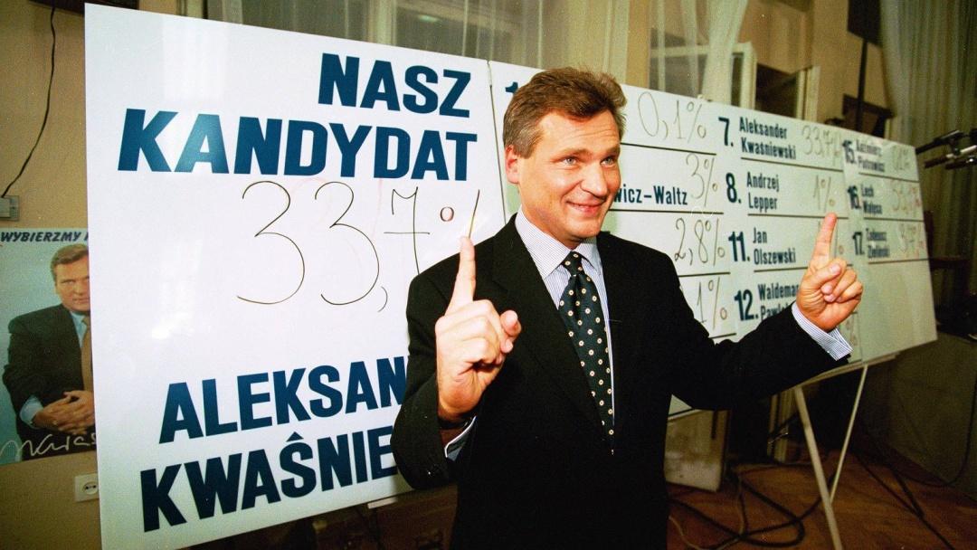 Александр Квасневський, 1995 рік / Фото: Sławomir Kamiński / AG