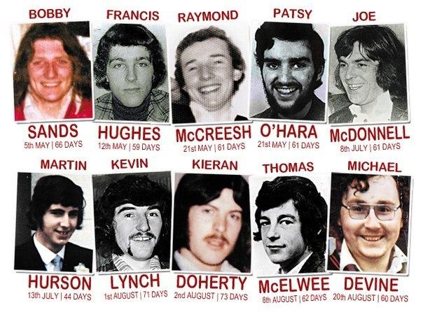 Члени ІРА - учасники голодовки 1981 року