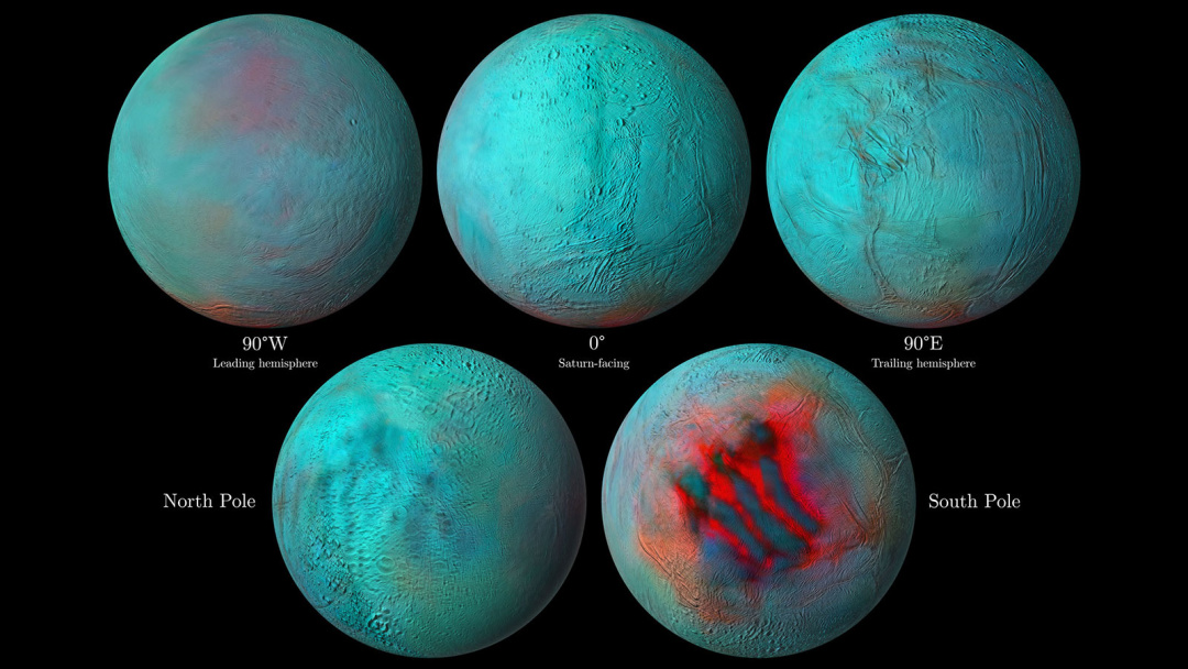 Ученые заметили свежий лед на северном полюсе спутника Сатурна