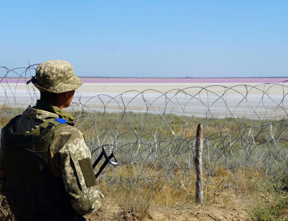 Позиція з видом на рожеве озеро