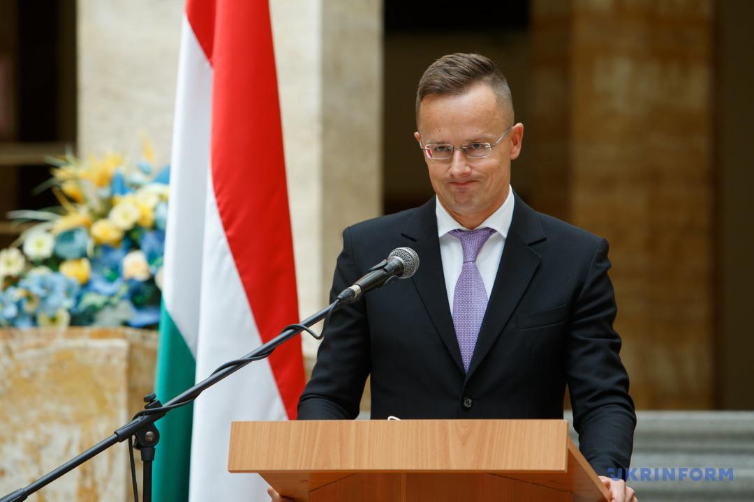 Hungary's Minister of Foreign Affairs and Trade Péter Szijjártó
