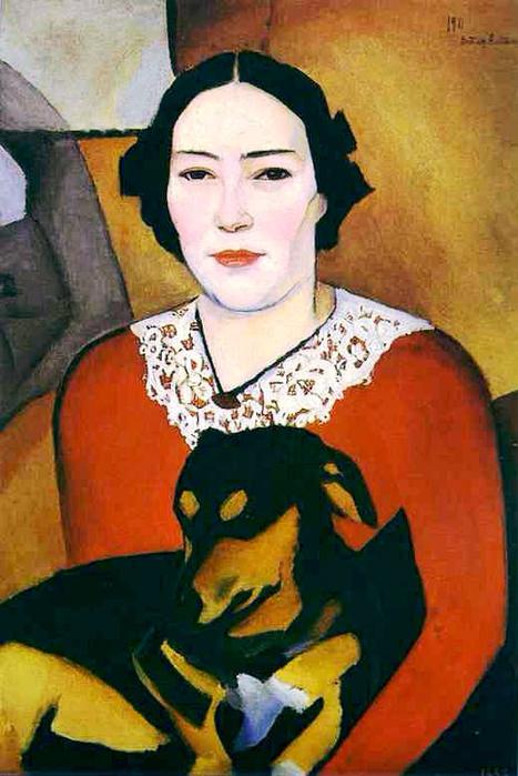 7-Натан Альтман. Дама із собачкою. Портрет Есфірі Йосипівни Шварцман, 1911 р.