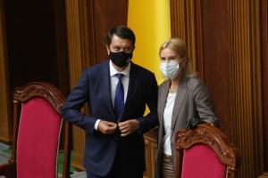 Разумков у перерві ВР проведе нараду з керівниками фракцій щодо е-декларування