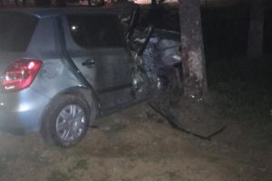 В Ужгороде Skoda въехала в дерево, есть погибшая