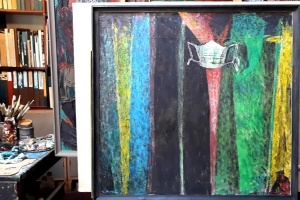 Народний художник Володимир Микита написав картину про пандемію коронавірусу