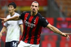 Дубль Ибрагимовича принес «Милану» победу на старте Серии А