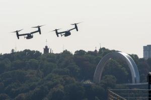 Конвертопланы ВВС США совершили полет над Киевом