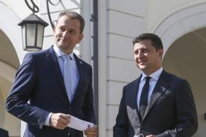 Zelensky y Matovič tratan la cooperación en varios ámbitos