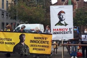 В Мілані біля апеляційного суду відбулась акція на підтримку Марківа