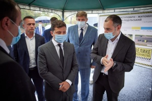 Zelensky arrives in Vinnytsia region