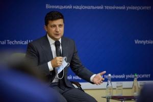 Зеленский рассказал винницким студентам, каким лозунгом руководствуется в жизни
