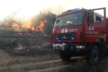 Brände in Regionen Charkiw und Luhansk: Menschen wird Entschädigung von bis zu 300.000 UAH versprochen